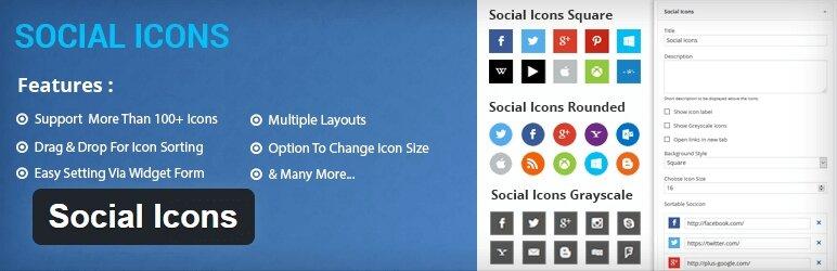 Social Icons plugins