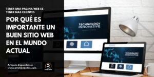 importancia de una pagina web