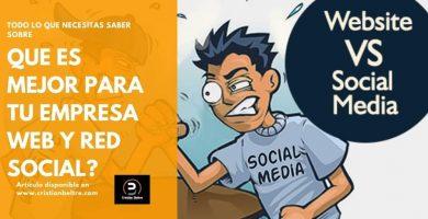 Sitio web vs redes sociales